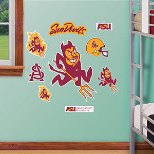 Arizona State Sun Devils - Team Logo Assortment Fathead Wall Decal